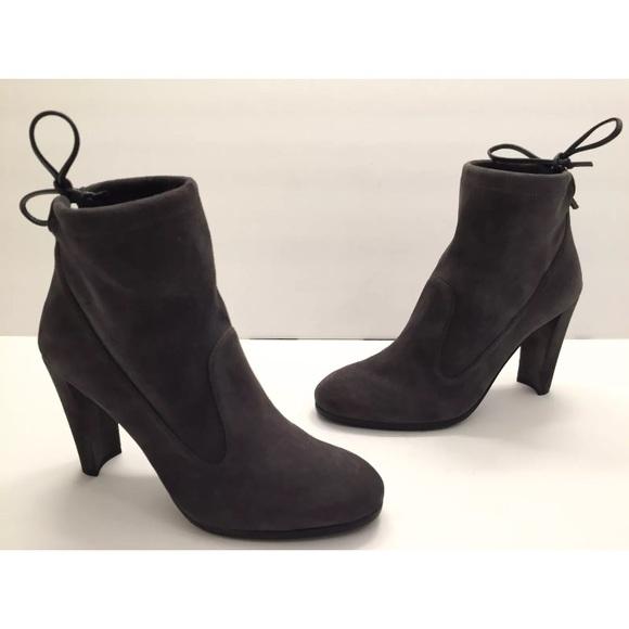 278465f81ef2 Stuart Weitzman Glove Tie-Back Suede Ankle Boot. M 5b10dbfd04e33d08fa611131